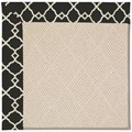 Capel Rugs Creative Concepts White Wicker - Arden Black (346) Rectangle 8