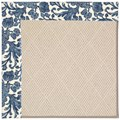 Capel Rugs Creative Concepts White Wicker - Batik Indigo Blue (415) Rectangle 8