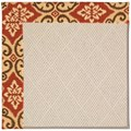 Capel Rugs Creative Concepts White Wicker - Shoreham Brick (800) Rectangle 10