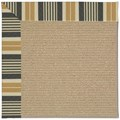 Capel Rugs Creative Concepts Sisal - Long Hill Ebony (340) Octagon 4