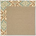 Capel Rugs Creative Concepts Sisal - Shoreham Spray (410) Octagon 4