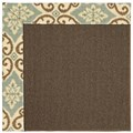 Capel Rugs Creative Concepts Java Sisal - Shoreham Spray (410) Octagon 4