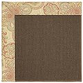 Capel Rugs Creative Concepts Java Sisal - Paddock Shawl Persimmon (810) Octagon 4