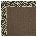 Capel Rugs Creative Concepts Java Sisal - Wild Thing Onyx (396) Octagon 6