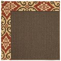 Capel Rugs Creative Concepts Java Sisal - Shoreham Brick (800) Octagon 6