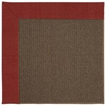 Capel Rugs Creative Concepts Java Sisal - Canvas Cherry (537) Rectangle 4' x 4' Area Rug