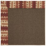 Capel Rugs Creative Concepts Java Sisal - Java Journey Henna (580) Rectangle 4' x 4' Area Rug