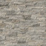 "MS International Silver Travertine Ledger Panel 6"" x 24"" Natural Slate Wall Tile :LPNLTSIL624"