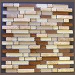 "Glass Tile & Stone Klassy Series Mosaic 12"" x 12"" : MS615"