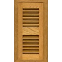 White Oak Honey 2x10 Flush Mount Vent (with damper)