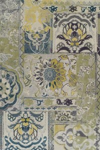 Nourison Collection Library Living Treasures (LI04-GRE) Runner 2'6