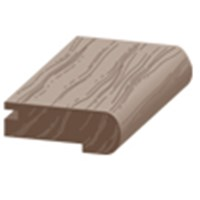 "Columbia Intuition with Uniclic: Overlap Stair Nose Cocoa Walnut - 84"" Long"