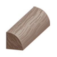 "Columbia Beacon Oak with Uniclic: Quarter Round Henna - 84"" Long"