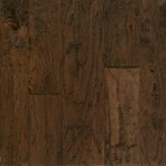 "Armstrong Artesian Hand-Tooled: Barrel Brown 4"", 5"" & 6"" Random Width Engineered Hickory Hardwood EMW6302"