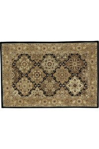 Capel Rugs Creative Concepts Cane Wicker - Canvas Citron (213) Octagon 6' x 6' Area Rug