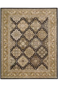 Capel Rugs Creative Concepts Cane Wicker - Canvas Lawn (227) Octagon 6' x 6' Area Rug