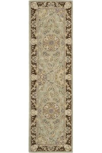 Capel Rugs Creative Concepts Cane Wicker - Arden Chocolate (746) Octagon 6' x 6' Area Rug