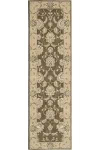 Capel Rugs Creative Concepts Cane Wicker - Tux Stripe Green (214) Rectangle 3' x 5' Area Rug