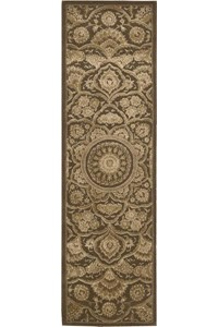 Capel Rugs Creative Concepts Cane Wicker - Tux Stripe Green (214) Rectangle 4' x 6' Area Rug