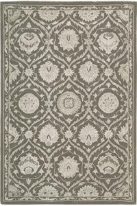Capel Rugs Creative Concepts Cane Wicker - Down The Lane Ebony (370) Rectangle 4' x 6' Area Rug