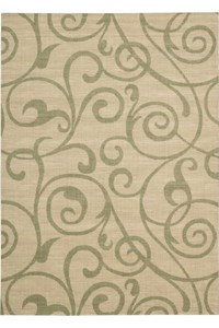 Capel Rugs Creative Concepts Cane Wicker - Tuscan Stripe Adobe (825) Rectangle 5' x 8' Area Rug