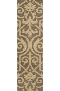 Capel Rugs Creative Concepts Cane Wicker - Canvas Rust (837) Rectangle 5' x 8' Area Rug