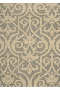 Capel Rugs Creative Concepts Cane Wicker - Canvas Buttercup (127) Rectangle 6' x 6' Area Rug