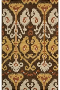 Capel Rugs Creative Concepts Cane Wicker - Bahamian Breeze Ocean (420) Rectangle 6' x 6' Area Rug