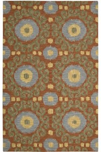 Capel Rugs Creative Concepts Cane Wicker - Paddock Shawl Indigo (475) Rectangle 6' x 6' Area Rug