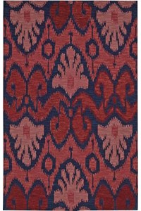 Capel Rugs Creative Concepts Cane Wicker - Canvas Sapphire Blue (487) Rectangle 6' x 6' Area Rug