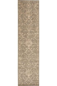 Capel Rugs Creative Concepts Cane Wicker - Tuscan Stripe Adobe (825) Rectangle 6' x 6' Area Rug