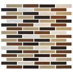 "Daltile Mosaic Traditions: Desert Dune 5/8"" x 3"" Glass Brick-joint Mosaic Tile BP94-583BJMS1P"