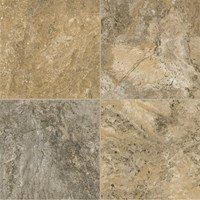 Armstrong Alterna Reserve Classico Travertine: Cameo Brown Gray Luxury Vinyl Tile D4312