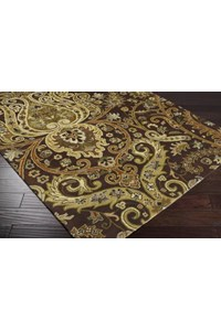 Surya Ancient Treasures Coal Black (A-141) Square 1'6