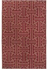 Surya Smithsonian Archive Maroon (ACH-1701) Rectangle 5'0