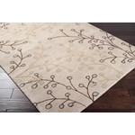 "Surya Athena Feather Gray (ATH-5008) Rectangle 2'0"" x 3'0"""