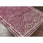 "Surya Beth Lacefield Atlas Cerise (ATS-1005) Square 1'6"" x 1'6"""