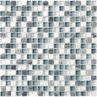 "Anatolia Bliss Glass Stone Blend Mosaic 5/8"" x 5/8"" : Waterfall 35-007"