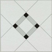 Armstrong Peel N Stick Units Collection: Lattice Lane Black/White Residential Vinyl Tile 25280