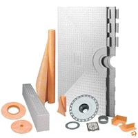 "Schluter Kerdi Shower System Kit - 32"" x 60"" Tray - Off Center Drain Placement KKB81152-KIT"