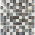 "MS International Diamond Cove Glass Metal Blend Mosaic 12"" x 12"" : SMOT-GLSMT-DC8MM"