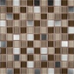"MS International Escorial Glass Metal Blend Mosaic 12"" x 12"" : THDW3-SH-EB-8MM"