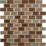 "MS International Crackle Glass Blend Fossil Canyon Brick Glass Mosaic 12"" x 12"" : SMOT-GLSGGBRK-FC8MM"