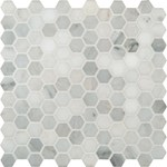 "MS International Arabescato Carrara Marble Mosaic Hexagon 12"" x 12"" : SMOT-ARA-1HEX"