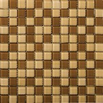 "Emser Lucente Glass Blends Mosaic 12.5"" x 12.5"" : Amber / Honey"