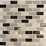 "Daltile Coastal Keystone Brick-Joint Mosaic 12"" x 12"" : Sunset Cove Blend CK89 21BJPM1P"