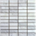 "MS International Arabescato Carrara Marble Mosaic 12"" x 12"" : SMOT-ARA-1X3-H"