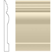 "Roppe Visuelle Rubber Wall Base: Almond 184 - 4 1/2"" x 120"