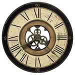 Howard Miller 625-542 Brass Works Wall Clock