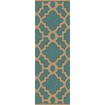 "Surya Candice Olson Modern Classics Sea Blue (CAN-2034) Rectangle 2'6"" x 8'0"""